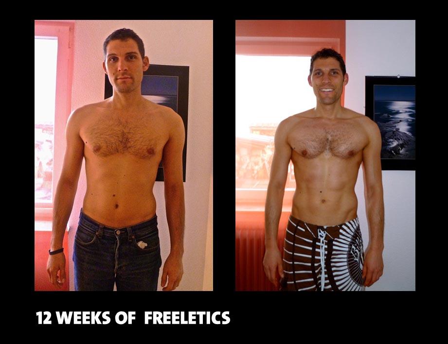 Das beeindruckende Ergebnis nach 12 Wochen Freeletics Training